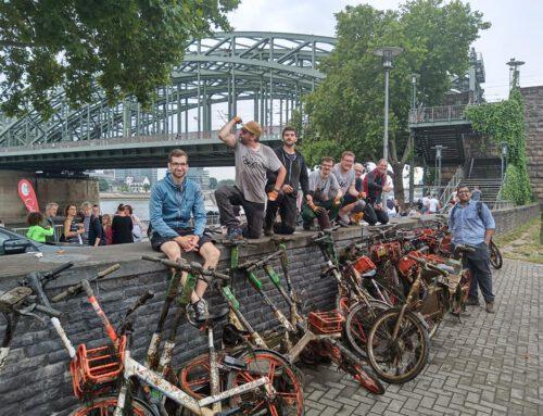 KRAKE zieht 39 E-Scooter und Leihräder aus dem Rhein